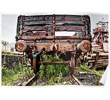 Decaying Railway Wagon Poster