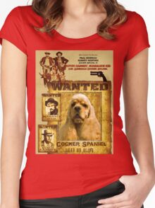 American Cocker Spaniel Art - Butch Cassidy and the Sundance Kid Women's Fitted Scoop T-Shirt