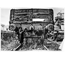 Decaying Railway Wagon Mono Poster