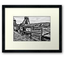 Decaying Railway Wagon 2 Mono Framed Print