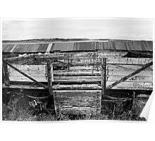 Decaying Railway Wagon 3 Mono Poster