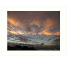 SKY AT NIGHT ,WESTWARD HO! Art Print