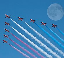 Lunar Fly Past by Steve Purnell