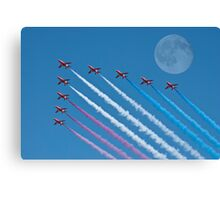 Lunar Fly Past Canvas Print