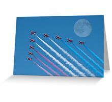 Lunar Fly Past Greeting Card