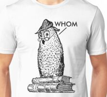Grammar Owl Says Whom Unisex T-Shirt