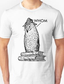 Grammar Owl Says Whom T-Shirt