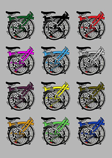 Brompton Bicycle Folded by Andy Scullion