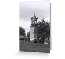 San Jose Mission Bell Tower Greeting Card