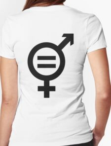 Equality - Merged Male and Female Gender Symbols Womens Fitted T-Shirt