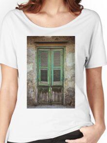 Green window shutters Women's Relaxed Fit T-Shirt