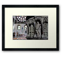 St.Albans Cathedral - Pulpit  Framed Print