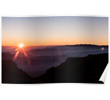 Altitude sunset Poster