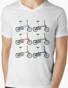 Brompton Bicycle Mens V-Neck T-Shirt