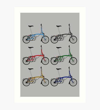 Brompton Bicycle Art Print