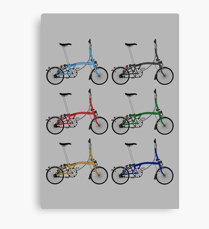 Brompton Bicycle Canvas Print