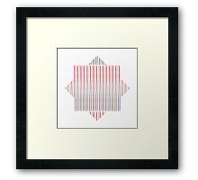 Happy Wobbly Lines I Framed Print