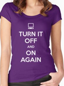 Turn it Off and On Again Women's Fitted Scoop T-Shirt