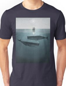 At sea. Unisex T-Shirt