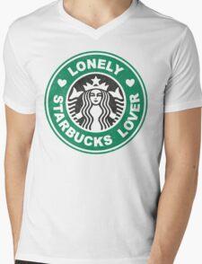 Lonely Starbucks Lover II Mens V-Neck T-Shirt