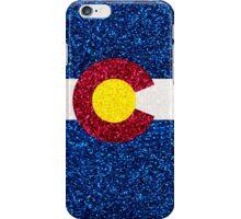 Glitter Colorado flag iPhone Case/Skin