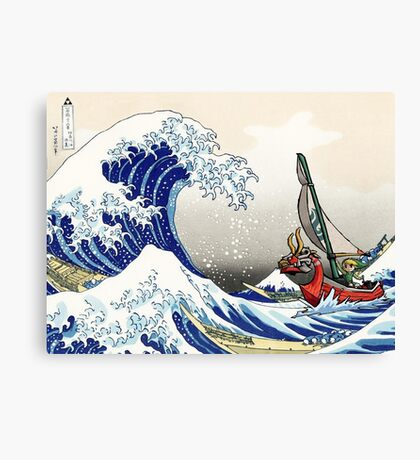 Legend of Zelda Great Wave Windwaker Canvas Print