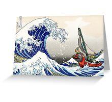 Legend of Zelda Great Wave Windwaker Greeting Card