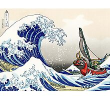 Legend of Zelda Great Wave Windwaker Photographic Print