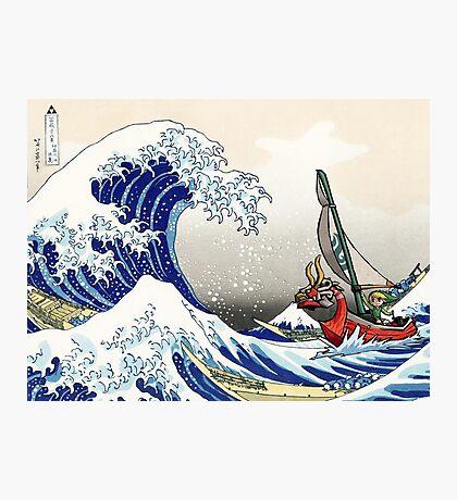 Legend of Zelda Great Wave Windwaker Photographic Print