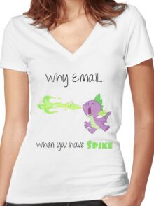 Spike Mail Women's Fitted V-Neck T-Shirt