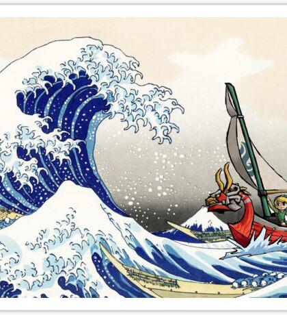 Legend of Zelda Great Wave Windwaker Sticker
