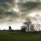 The Ghostly Pevensey Castle by Shane Ransom