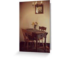 18th Century Dining Greeting Card