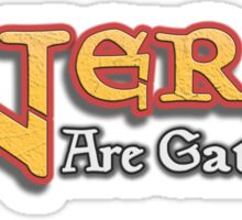 Nerds Are Gathering - Magic The Gathering MTG Spoof Sticker