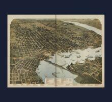Panoramic Maps Jacksonville Florida Kids Tee