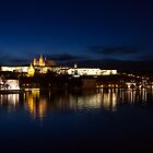 Prague Castle @night by Dominika Aniola