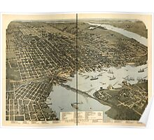Panoramic Maps Jacksonville Florida Poster