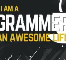 Programmer T-shirt : Trust me, I am a programmer. Sticker