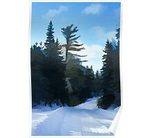 Winter Mood Impressions - Snowy Road in Algonquin Poster