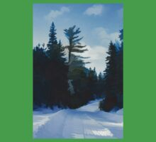 Winter Mood Impressions - Snowy Road in Algonquin Baby Tee