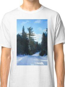 Winter Mood Impressions - Snowy Road in Algonquin Classic T-Shirt