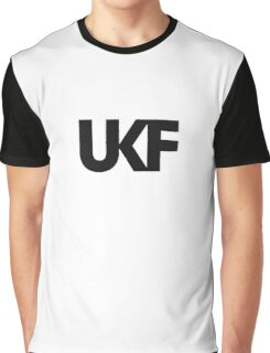 UKF-White and Black Graphic T-Shirt