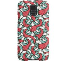 Crazy tangle doodle sea waves pattern Samsung Galaxy Case/Skin
