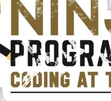 Programmer T-shirt : Ninja programmer. coding at the night Sticker