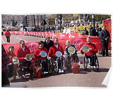 Prince Harry with the Winning Elite Wheelchair Athletes Poster