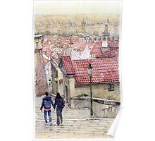 Prague Zamecky Schody Castle Steps Poster