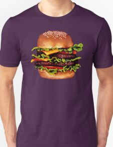 Double Cheeseburger 2 Pattern Unisex T-Shirt
