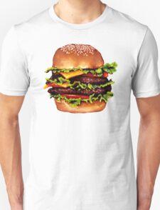 Double Cheeseburger 2 Pattern T-Shirt