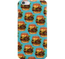 Double Cheeseburger 2 Pattern iPhone Case/Skin