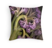 Purple Cauliflower Throw Pillow